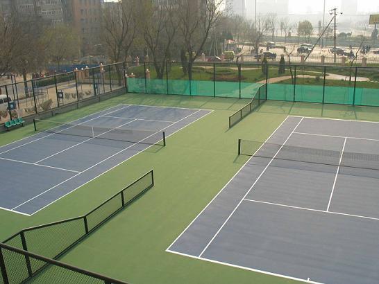 商水县第二高级中学羽毛球场3个