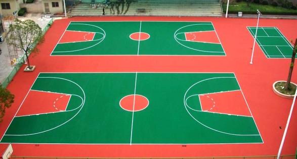 遂平县森林半岛篮球场2个
